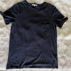 Helmut Lang Slashed sleeve tshirt